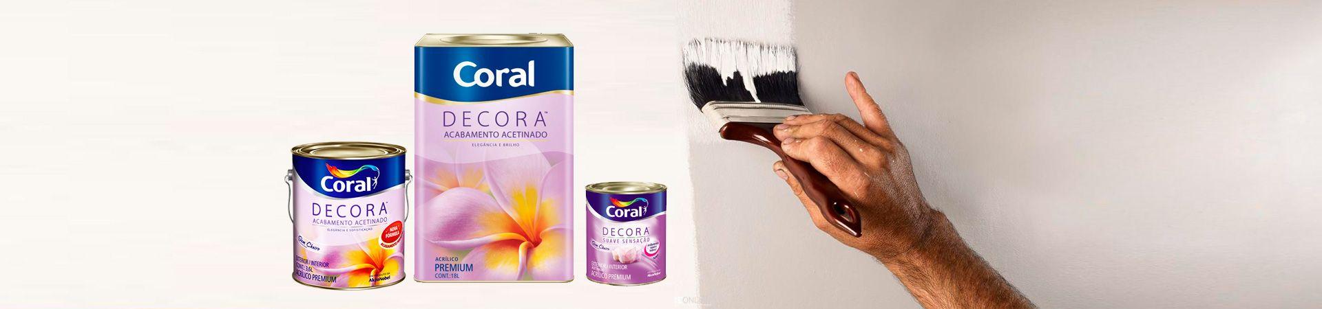 Banner de Imagens - Linha de Tintas Coral Decora