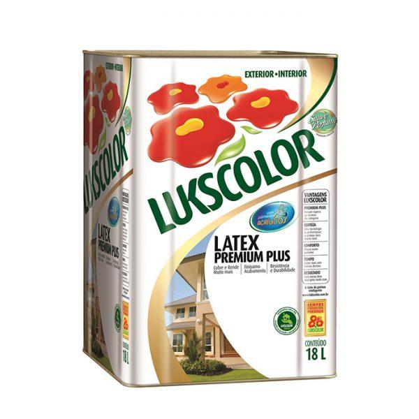 latex acrilico premium plus lukscolor 18 litros