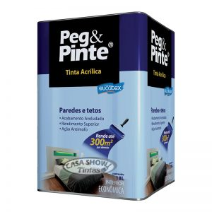 Látex Acrílico Peg & Pinte Eucatex 18L