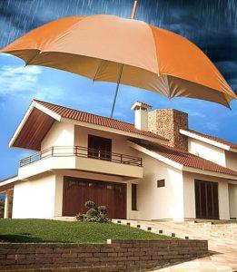 imagem de casa protegida contra chuvas