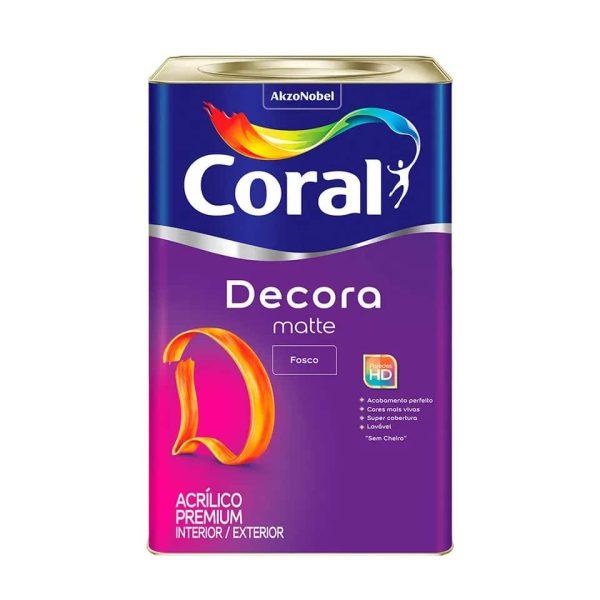 coral decora matte lata 18l premium melhor preco