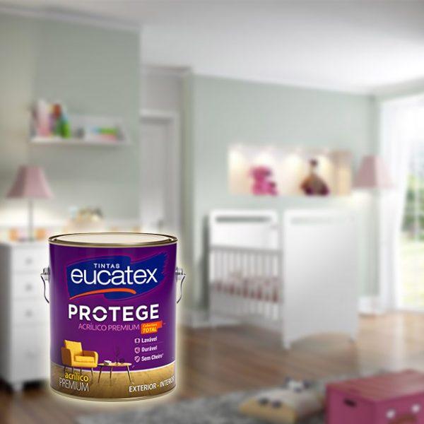 latex acrilico premium eucatex protege 3,6L quarto bebê