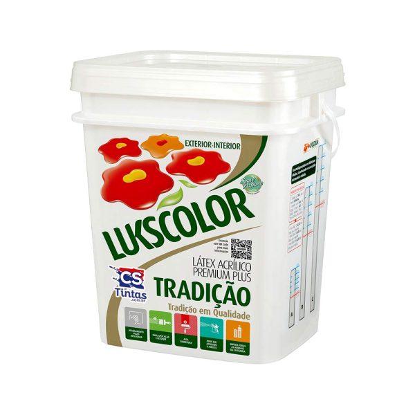 Tinta Látex Premium Lukscolor balde 18L