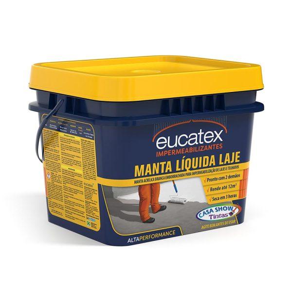 impermeabilizante manta liquida para lajes e telhados eucatex 12kg