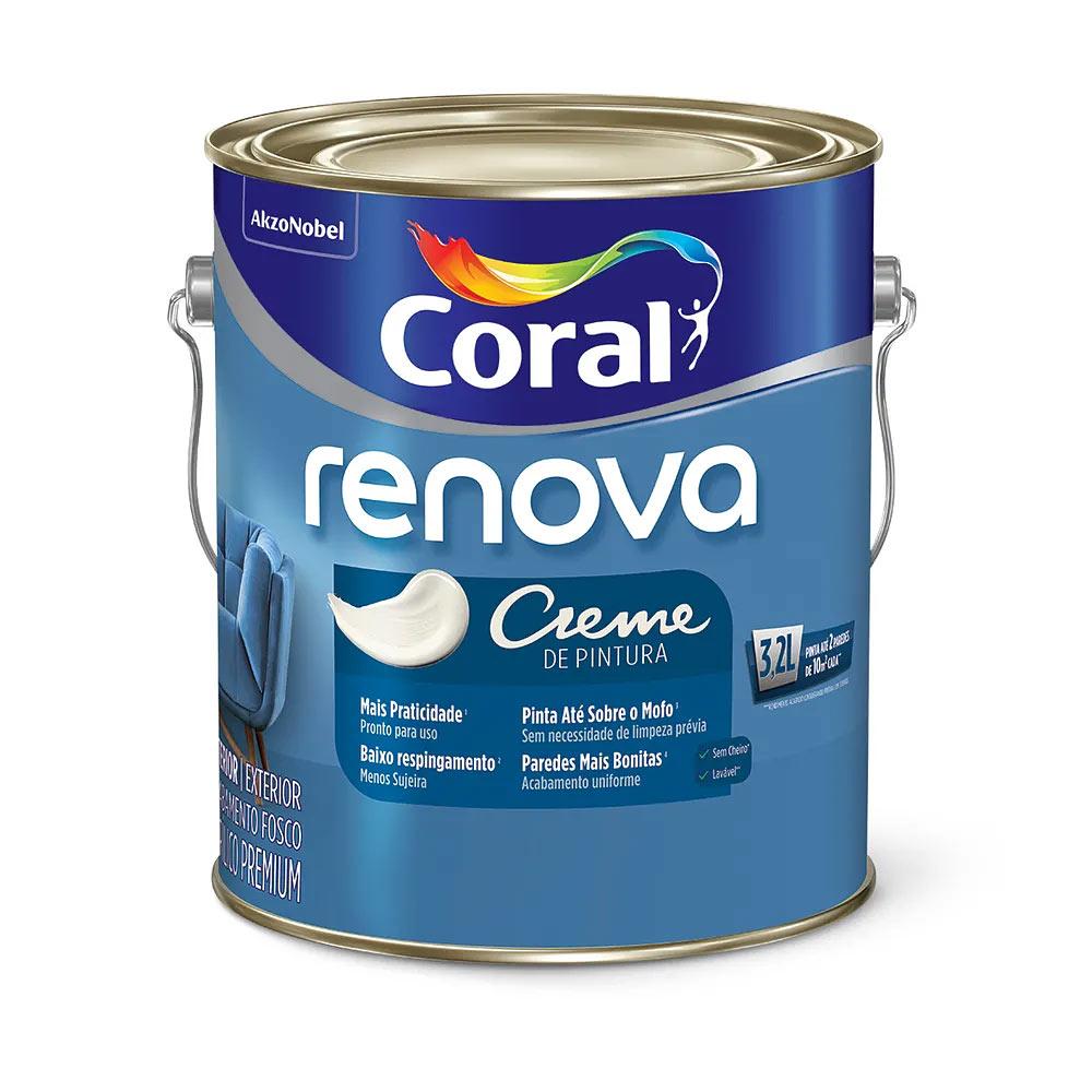 Coral Renova Tinta Creme de Pintura – Galão 3,2L Branco