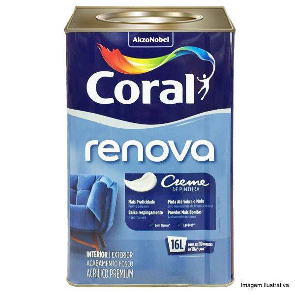 coral renova creme de pintura branco fosco lata