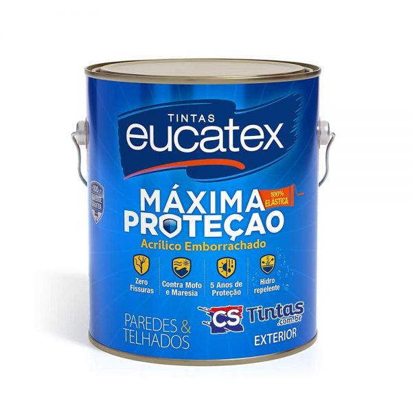 tinta emborrachada impermeabilizante eucatex maxima protecao 3,6l